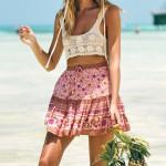 asmine Florals Boho Skirt Women Mini Skirts Casual Hippie Chic
