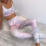 3D Print Sportswear Yoga Sets for Fitness Tracksuit Gym Wear