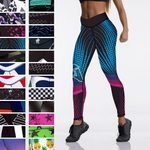 High Waist Elasticity Women Digital Printed Leggings