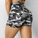 Camouflage Sexy Push Up Shorts Biker Shorts