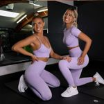 Sleeveless Yoga Crop Tops Sets Seamless Sports Suits