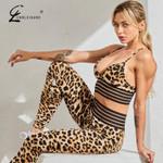 Printed Fashion Fitness Gym 2 Piece Set Tracksuit Sportswear