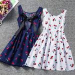Todder Baby Girl Summer Dress Cherry Printed