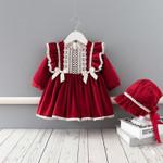 Christmas Clothes Set Kids Dresses Thicken Velvet Dress