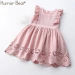 Sleeveless Tassel Hollow Out Design Princess Dress Kids Children's clothes
