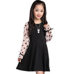 Patchwork Girl Dresses Polka Dot Dress For Kids