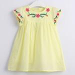 Baby Girls Princess Dress Embroidered Flower