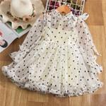 Girls Dress Full Sleeve Polka Dots Girls Princess