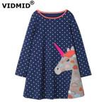 Baby Girls Dress Long Sleeve Princess unicorn Dress
