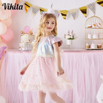Kids Princess Dress for Girls Elegant Pageant Shiny Sequins