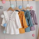 0-5Y Toddler Kids Baby Girl Autumn Dress Ruffles Long Sleeve