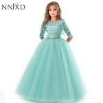 Princess Lace Dress Kids Flower Embroidery Dress Vintage