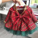 1-6T Christmas kids Baby Girl Princess Dress