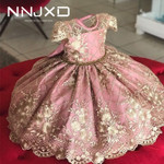 4-10 Years Kids Dress for Girls Wedding Tulle Lace Girl Dress