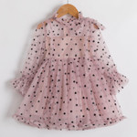 Kids Dresses For Girls Long Sleeve Children Clothing Polka Dot