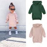 Casual Teenage Girls Dress Toddler Kids Girls Hoodies Sweatshirts