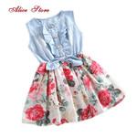 Girls Dresses Flower Ruffled Dress Sundress Clothing Costume