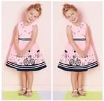 Kids Baby Girls Beauty Anime Dress Cartoon Love Dress