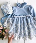 Flower Girl Princess Lace Dress Kid Baby  Formal Dresses