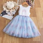 Kids Summer Short Sleeve Lace Princess Dress Clothes