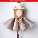Deer Tutu Dress Girl Christmas Dresses with Headband Kids