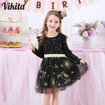 Children Sequined Dresses Girls Star Dress Toddlers Casual