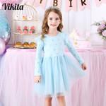 Girls Dress Star Printed Birthday Tutu Dresses Children Casual Wear
