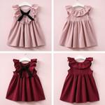 Cute Baby Girls Sundress Bowknot Short Mini Vest Dress Toddler