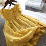 Dress Flower Wedding Dresses Solid Children Kids Baby Clothing 3 7Y
