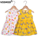 baby girls summer short sleeve dresses cotton clothes