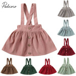 Clothing Toddler Kids Baby Girls Party Strap Suspender Gown Solid Overalls