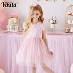 Kids Sleeveless Tutu Drsses for Girls Party Dress Star Printed