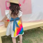 Sleeveless Cute Girl Dress Toddler Kid Princess Bow Baby Kids Clothes