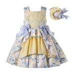 Flower Princess Dress For Kids Yellow Boutique Dress Girl
