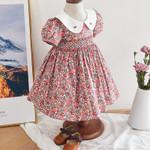 Girl Smocked Floral Dress Baby Smock Frocks Children