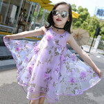 Bohemia Children Dresses Girls Summer Floral Party Dresses T