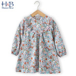 Lace Lady Floral Long Sleeves Party Dress Children Kids Clothing