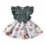 Toddler Baby Girl Princess Dress Vintage Floral Print
