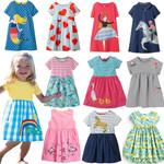 Girls Dresses Cotton Clothes children's short sleeve