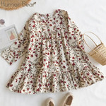 Children Clothing Dress Printing Flowers Kids Dresses