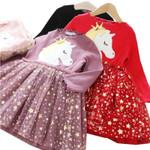 Clothes Baby Girl Star Dress Unicorn Vestidos