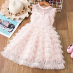 Kids Formal Events Vestidos Infant Tutu Flower Dress Fluffy