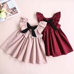 Elegant Style Fashionable Bow Tie Princess Party Dress Children's Clothes