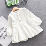 Print A-line Dress Children Princess Dress Long Sleeve casual