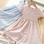 Lace Chiffon Flower Draped Ruched Kid Children Clothing