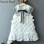 Hollow Embroidered Fying Sleeves Princess Party Dress Fashion Baby