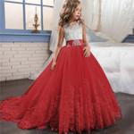 Teenager Bridesmaid Elegant Princess Wedding Lace Dress Vestido Party
