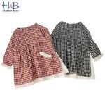 Clothes Japanese Cotton Linen Baby Girls Princess Dress Striped Ruffles