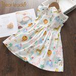 Cartoon Print Baby Girls Princess Fashion Floral Dresses Toddler