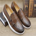 British Retro Gentleman Casual White Bottom Men's Sneakers